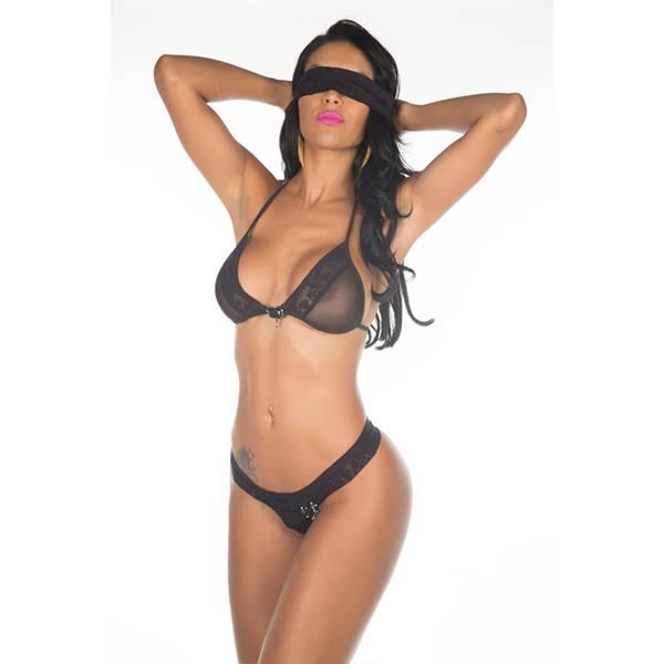 Fantasia Star Mon Amour Pimenta Sexy Preto - SEX SHOP CURITIBA