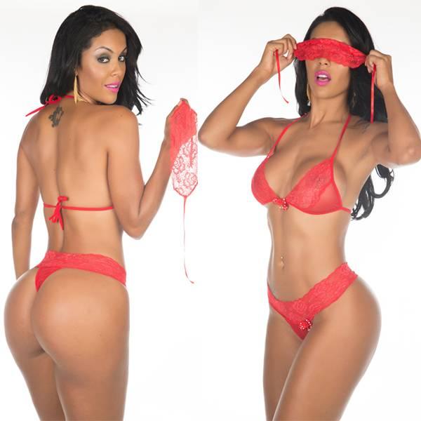 Fantasia Star Mon Amour Pimenta Sexy Vermelho - SEX SHOP CURITIBA