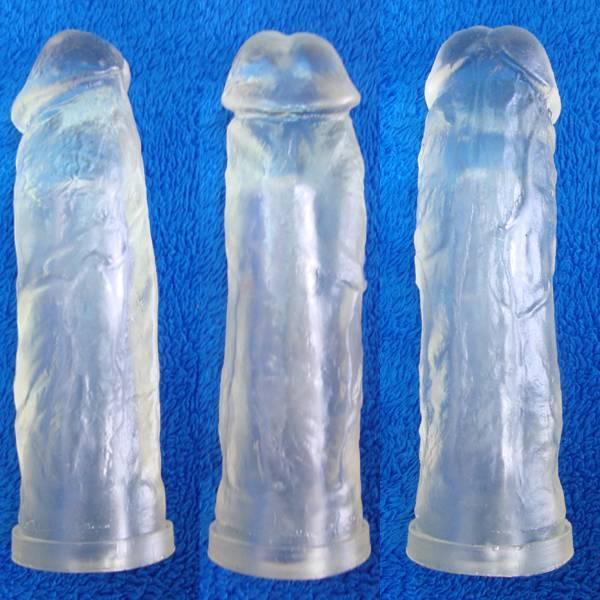 Capa Peniana Em Cyber Skin Cristal 20 x 4,5 cm Kong - SEX SHOP CURITIBA