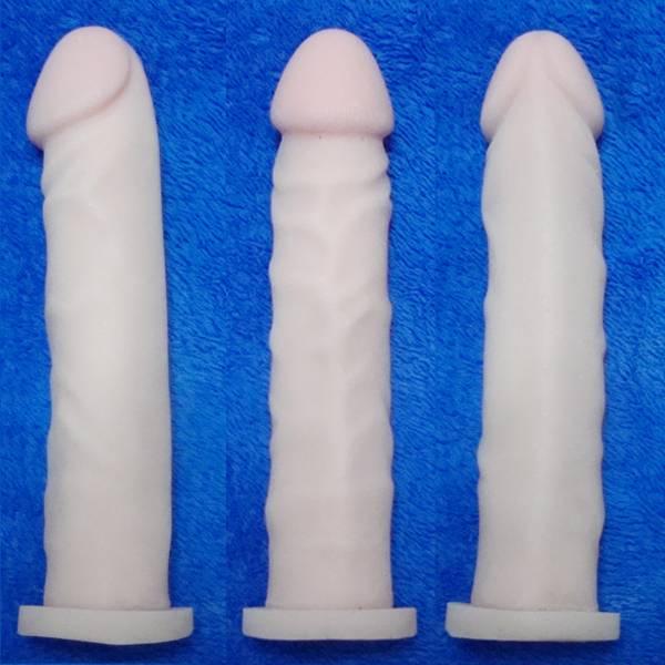 Capa Peniana Em Cyber Skin 20 x 4 cm Garanhão  - SEX SHOP CURITIBA