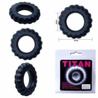 Anel Peniano Titan 4 cm Preto