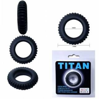 Anel Peniano Titan 3,5 cm Preto