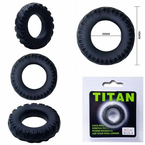 Anel Peniano Titan 4 cm Preto Elástico - SEX SHOP CURITIBA
