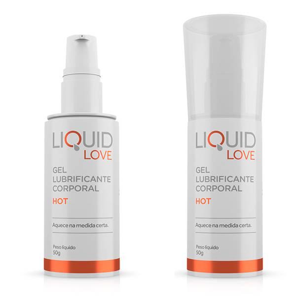 Lubrificante Liquid Love HOT 50g - SEX SHOP CURITIBA