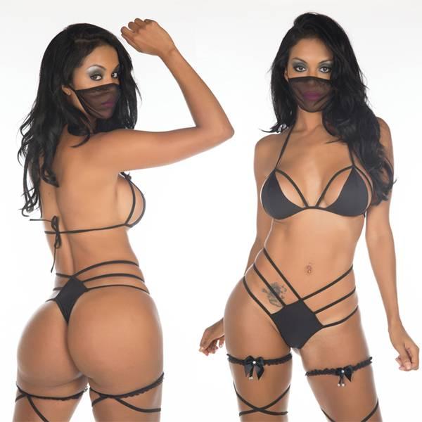 Fantasia Erótica Ninja Negra - SEX SHOP CURITIBA