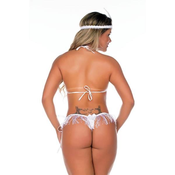 Fantasia Erótica Melindrosa COR VERMELHO - SEX SHOP CURITIBA