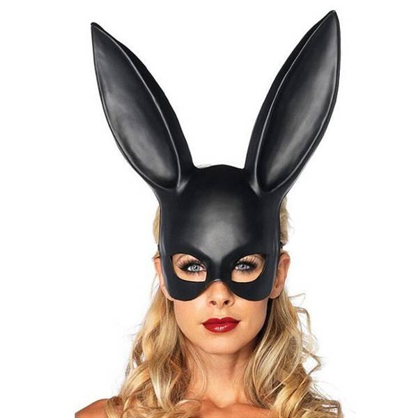 Máscara Coelha Cor Preto Bunny Masc - SEX SHOP CURITIBA