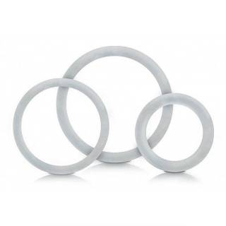 Kit Com 3 Anéis Penianos Transparente