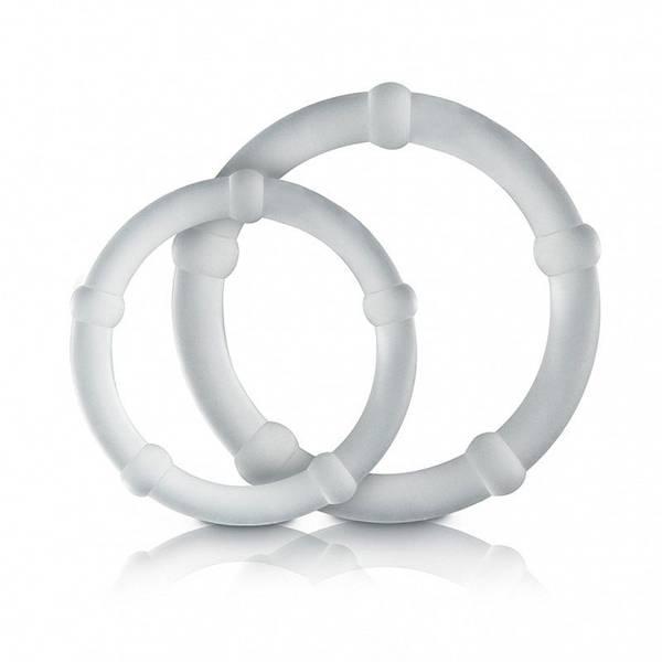 Kit Com 2 Anéis Penianos Com Saliências Transparente - SEX SHOP CURITIBA