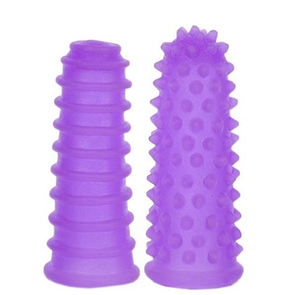 Capa Para Dedos Com Massageador 8x3cm Lilás - SEX SHOP CURITIBA