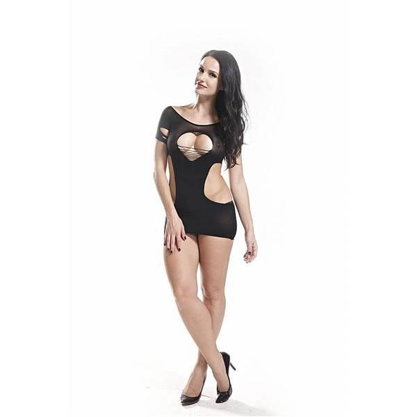 Bodystocking Vestido Rendado Coração - SEX SHOP CURITIBA