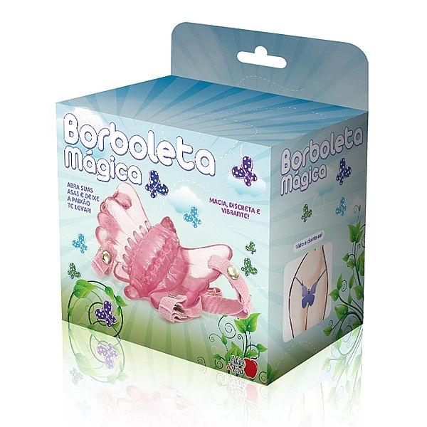 Vibrador Butterfly Estimulador Feminino Rosa Borboleta Mágica - SEX SHOP CURITIBA