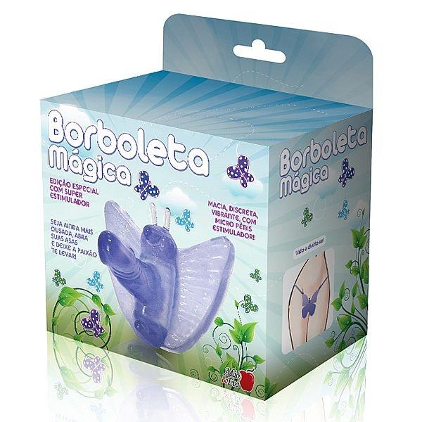 Vibrador Butterfly Feminino Lilás Com Pênis Borboleta Mágica - SEX SHOP CURITIBA