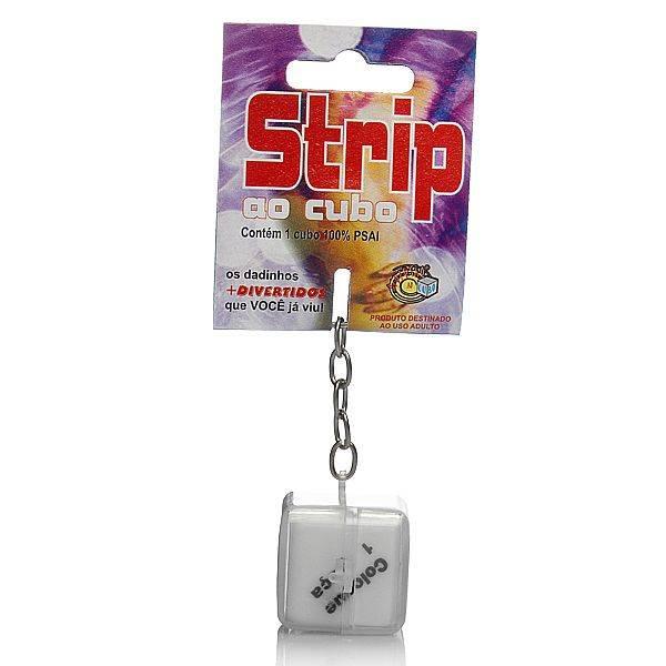 Dado Sensual Strip ao Cubo Chaveiro - SEX SHOP CURITIBA