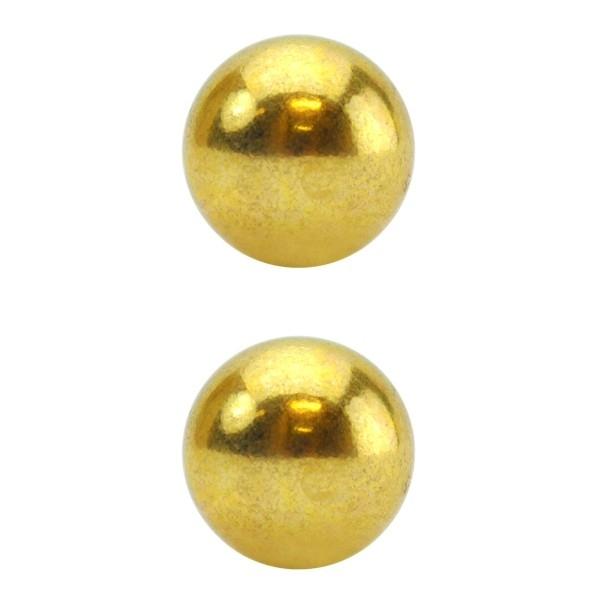 Bolas Para Pompoarismo Douradas - SEX SHOP CURITIBA