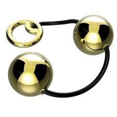 Bolas Ben-Wa em Metal Cor Dourado