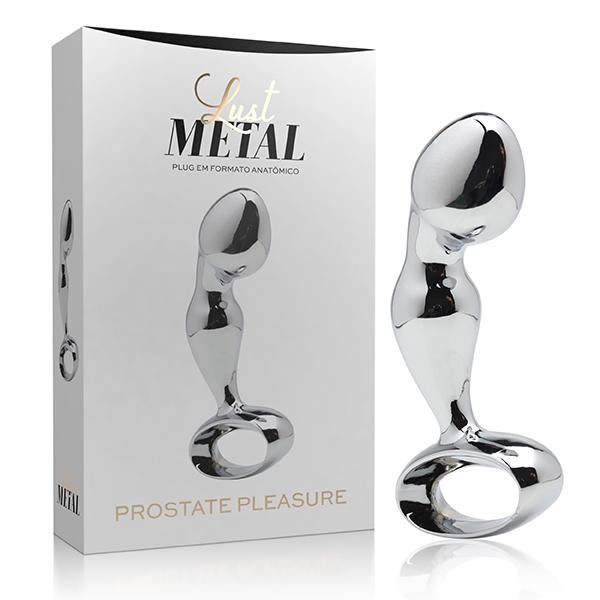 Plug Anal De Prostata Lust Metal 8 x 3 cm Prata - SEX SHOP CURITIBA