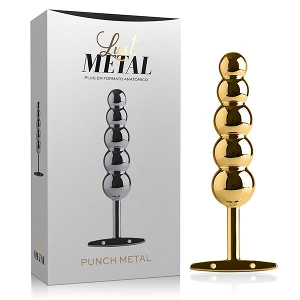 Plug Anal Gold Lust Metal 15 x 3,5 cm - SEX SHOP CURITIBA