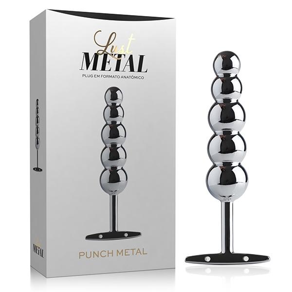 Plug Anal Silver Lust Metal 15 x 3,5 cm - SEX SHOP CURITIBA