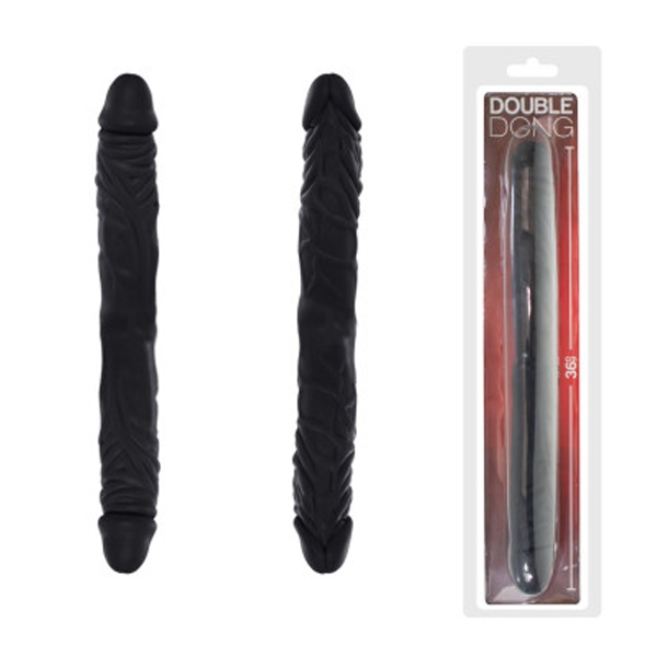 Pênis Negro Duplo 36x4 cm - Real Peter - SEX SHOP CURITIBA