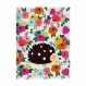 Caderno Pontado Floral   13 x 18 cm