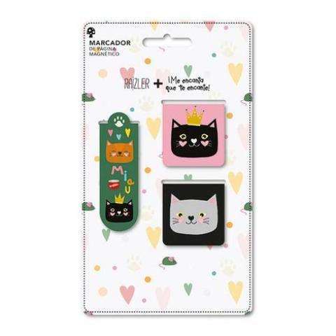 Kit 3 Marcador de página magnético Gatos - Doutor Design