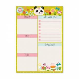 Bloco Planner Diário Panda