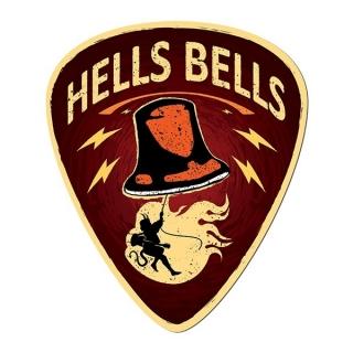 Placa de parede Palheta Hells Bells