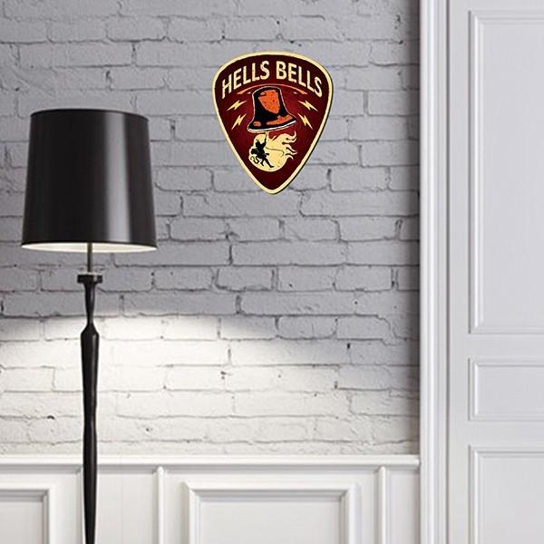 Placa de parede Palheta Hells Bells - Doutor Design