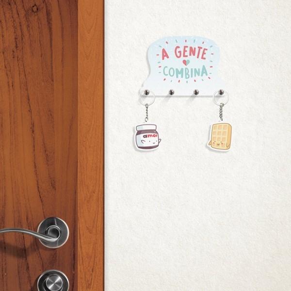 Porta Chaves com Chaveiros A Gente Combina - Doutor Design