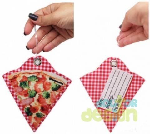 Etiqueta de Bagagem Fatia de Pizza - Doutor Design