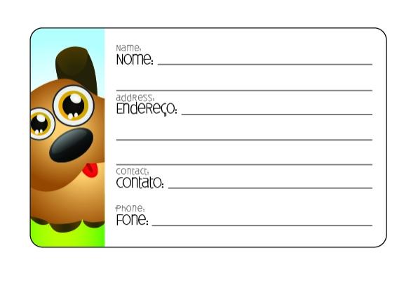 Etiqueta de Bagagem Cachorro - Doutor Design