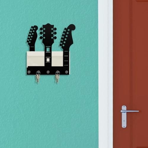 Porta Chaves e Cartas Guitarras - Doutor Design