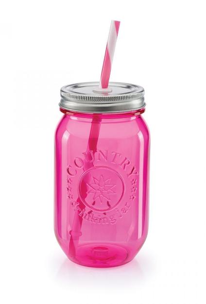 Copo Pote Picnic Rosa - Doutor Design