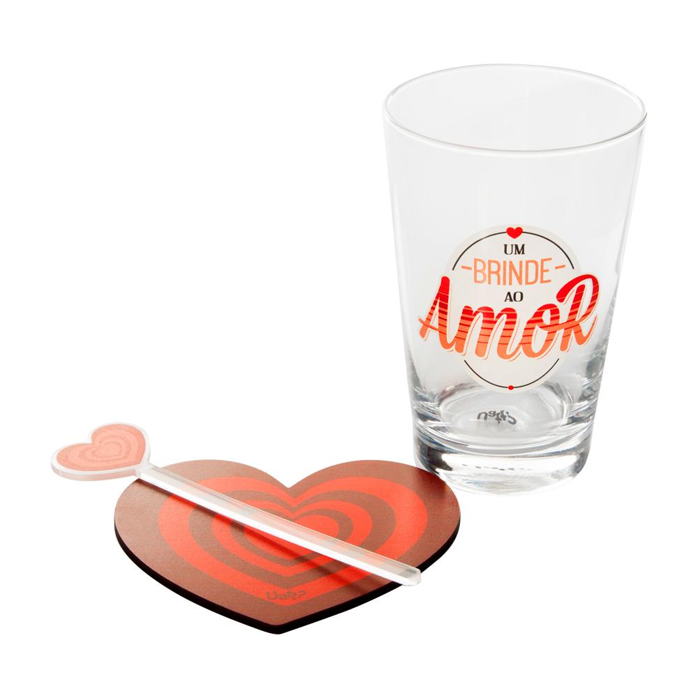 Kit Drink Copo um Brinde ao Amor - Doutor Design