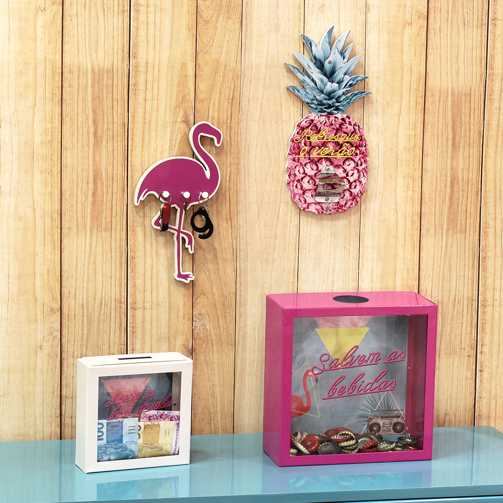 Porta Chaves Flamingo - Doutor Design