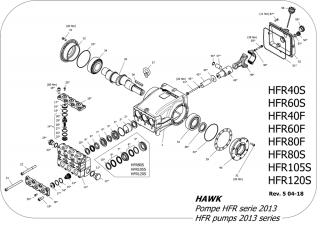 Kit Gaxeta da Bomba Hawk HFR120SR   TORQUE SUL