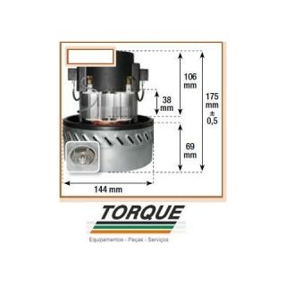 Motor Dupla Turbina 220V. P/ GHIBLI/JACTO/SOTECO/ARTLAV/SCHULTZ | TORQUE SUL