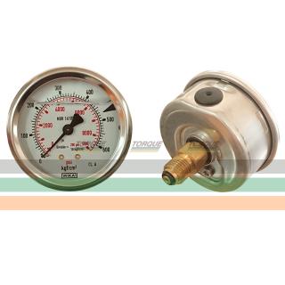 Manômetro 0-600 BAR - BSP | TORQUE SUL