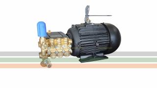 Grupo Motobomba - Motor 5 CV + Bomba Bertolini WBXL 1320 | 15,3 l./min | 150 BAR | 1450 RPM